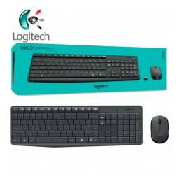 Combo teclado y mouse  LOGITECH MK235 inalambrico
