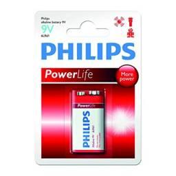 Bateria 9V Alcalina PHILIPS