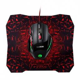 Mouse Gamer+Mousepad Marvo M315+G1
