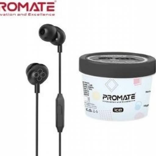 Auricular Promate ICE Black Earphones c/Micrófono